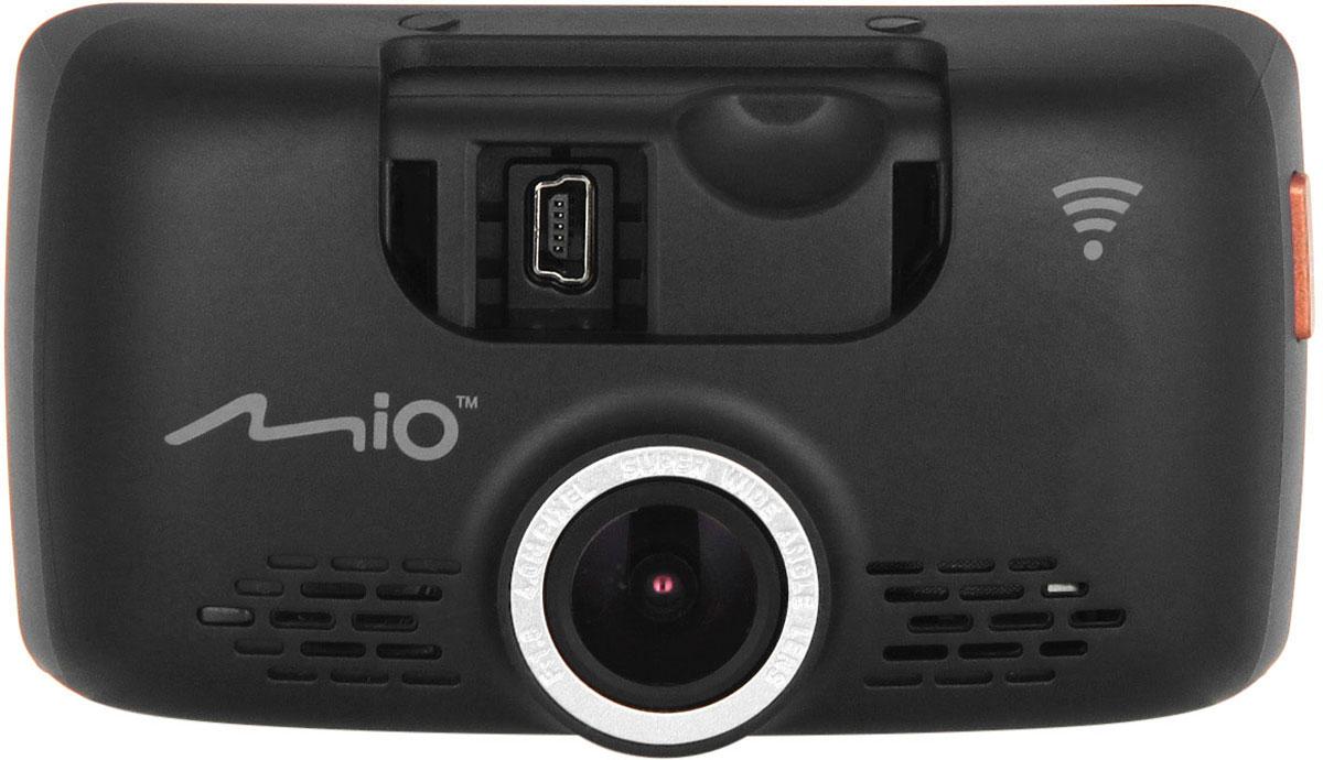 Mio MiVue 688, Black видеорегистратор5415N4840012Mio Mivue 688 записывает качественное видео в высоком разрешении 2304х1296 точек с охватом всех необходимых подробностей. Широкий угол обзора 150° позволяет получить полную картину всегда и везде. Ручная установка экспозиции видеорегистратора позволяет в сложных условиях освещённости, таких как снегопад или яркие солнечные лучи, регулировать яркость видео.Передовая оптическая система состоит из 6 высококачественных стеклянных линз и инфракрасного фильтра. Они пропускают больше света и создают более яркую и чёткую картинку.Наличие встроенного GPS приемника в видеорегистраторе, позволяет непрерывно записывать информацию о местоположении, скорости и высоте над уровнем моря, а так же предупреждать о приближении к камерам контроля скорости.Запатентованное умное оповещение SmartAlerts о камерах контроля скорости заранее предупреждает водителя. Дистанция до камеры выбирается автоматически в зависимости от вашей скорости.Чтобы не отвлекать вас во время вождения, на дисплее будет указана текущая скорость движения и точное время. При приближении к камерам контроля скорости, на экране появится предупреждение об ограничении.Контроль за соблюдением скорости позволяет настроить лимит допустимой скорости, при превышении которой, вы услышите звуковой сигнал. Пользователь самостоятельно может добавлять камеры контроля скорости на дороге.Наличие WiFi модуля позволяет обеспечить быструю связь видеорегистратора с любым цифровым устройством и при необходимости передавать файлы. Для простого управления файлами через WiFi, вы можете скачать приложение MiVue доступное для iOS и Android OS.Поворотный механизм крепления позволяет развернуть устройство на 360° и записать все интересующие моменты, а удобная система фиксации кабеля в креплении позволит снять устройство без особых помех.Больше никаких кнопок для управления видеорегистратором. Теперь, вы легко можете найти файлы для воспроизведения или сделать фотографию во время движения, всего ли