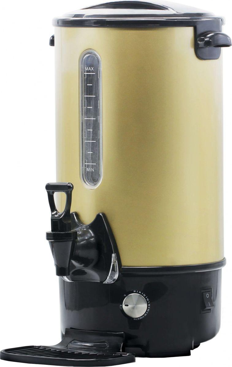 Gemlux GL-WB8G кипятильникGL-WB8GКипятильник Gemlux GL-WB8G идеально подходит для кипячения воды, хранения и розлива горячей воды при приготовлении горячих напитков(растворимого кофе, чая, горячего шоколада, бульона), а также приготовления глинтвейна. Нагревательный элемент в этой модели закрыт, что позволяет уберечь его от накипи. Плотно закрывающаяся крышка, автоматическоеотключение при закипании воды и защита от сухого включения делают кипятильник абсолютно безопасным в работе. Имеется каплесборник. Мерное стекло позволяетследить за количеством воды.