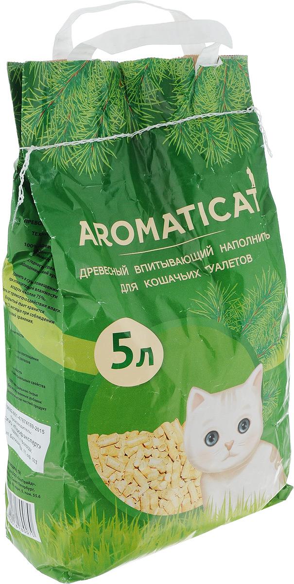Наполнитель для кошачьего туалета Aromaticat, древесный, 5 л наполнитель зооник древесный 5л 06234