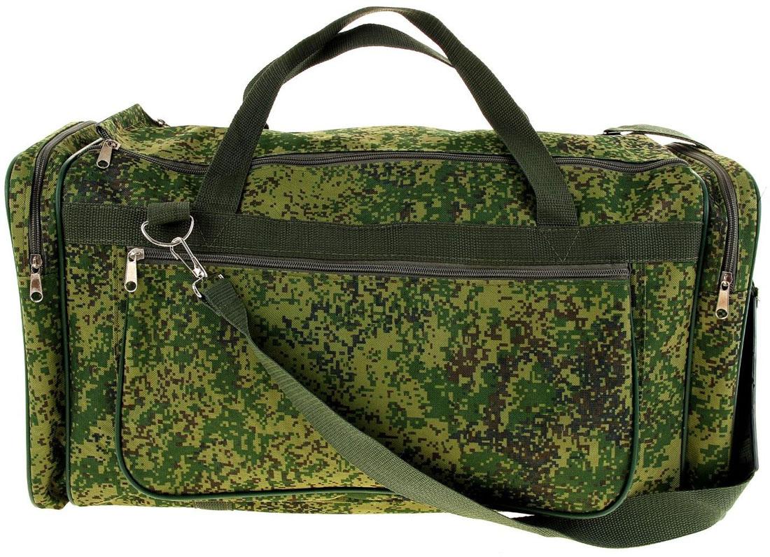 Сумка дорожная ZFTS, цвет: зеленый. 10325441032544Модная дорожная сумка ZFTS предназначена для тех, кто собирается в путешествие или деловую поездку.В большое отделение вместятся необходимые вещи: от нижнего белья до верхней одежды. А удобные карманы предназначены для хранения предметов первой необходимости: косметички, зубной щётки или влажных салфеток. Теперь не надо будет перерывать весь багаж в поисках нужной вещи. Порядок в сумке поможет всегда быть в курсе того, где и что лежит.Модель оснащена широкими ручками и длинным съёмным ремнём для комфортной переноски. Дорожный аксессуар прослужит много лет, так как изготовлен из прочного текстиля, устойчивого к выцветанию.