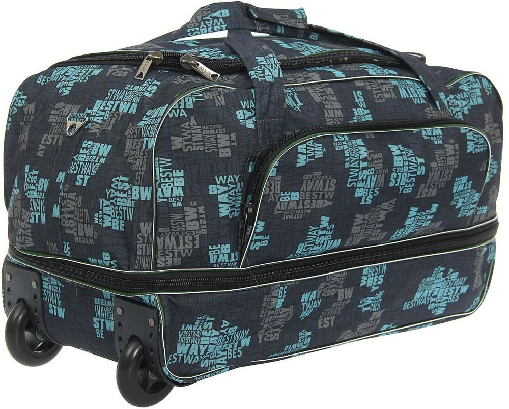 Сумка дорожная AMeN, цвет: темно-синий. 12645451264545Собираетесь в дальнее путешествие, в гости к родственникам или просто за город? Тогда вам пригодится дорожная сумка AMeN на колесах. Сумка имеет 1 большое отделение с возможностью расширения и наружный карман. В такую сумку поместится все, начиная от соломенной шляпки и заканчивая бабушкиными соленьями, в зависимости от того, какой вы выберете маршрут.Сумка на колесиках удобна в любой ситуации. Просто выдвиньте длинную ручку и с легкостью перевозите свои вещи во время поездки.Фирма Amen производит сумки на собственной фабрике. При пошиве изделий используются современные материалы, обеспечивающие износостойкость и яркость материала. Дизайн аксессуаров разрабатывается в соответствии с последними модными тенденциями.