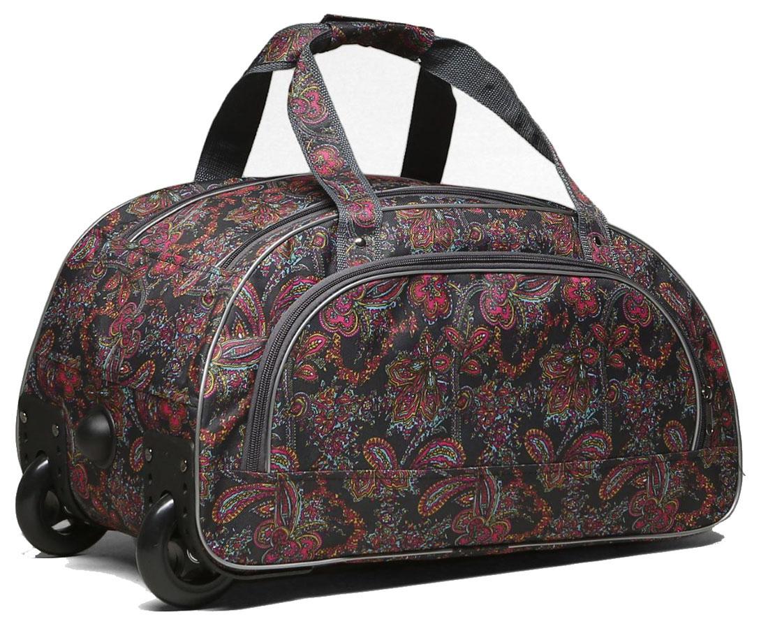 Сумка дорожная AMeN, цвет: серый. 15458701545870Собираетесь в дальнее путешествие, в гости к родственникам или просто за город? Тогда вам пригодится дорожная сумка AMeN на колесах. Сумка имеет 1 большое отделение с возможностью расширения и наружный карман. В такую сумку поместится все, начиная от соломенной шляпки и заканчивая бабушкиными соленьями, в зависимости от того, какой вы выберете маршрут. Сумка на колесиках удобна в любой ситуации. Просто выдвиньте длинную ручку и с легкостью перевозите свои вещи во время поездки.Фирма Amen производит сумки на собственной фабрике. При пошиве изделий используются современные материалы, обеспечивающие износостойкость и яркость материала. Дизайн аксессуаров разрабатывается в соответствии с последними модными тенденциями.