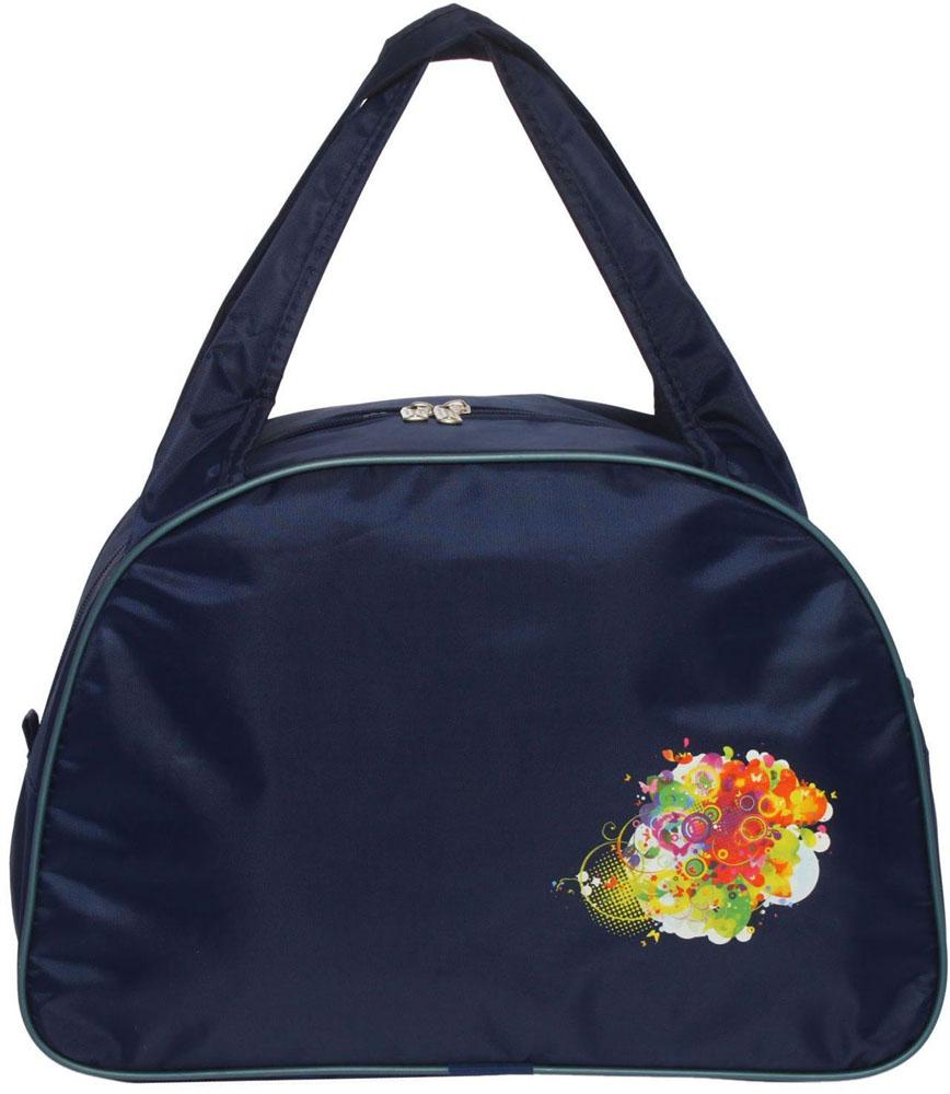 Сумка дорожная ZFTS, цвет: темно-синий. 189084189084Универсальная сумка ZFTS будет незаменима для путешествий, поездок за город или занятий спортом. Практичный аксессуар выполнен из прочного текстиля, легко моется и не требует особого ухода. Основное отделение с застёжкой на молнии вместит большое количество вещей и предметов, таких как спортивная одежда и обувь, предметы гигиены для похода в фитнес-клуб и так далее.Две широкие ручки равномерно распределяют нагрузку на плечо.