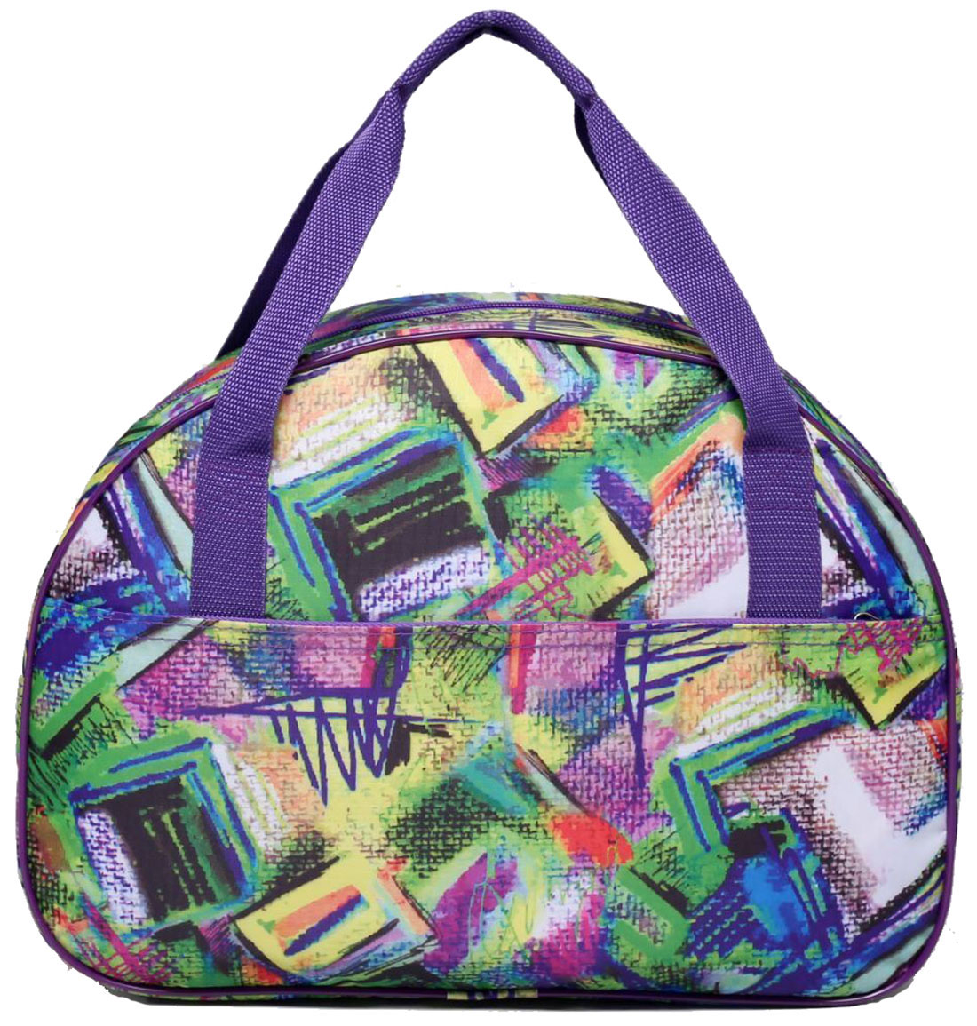 Сумка дорожная Sima-land, цвет: сиреневый. 24268822426882Модная универсальная сумка Sima-land будет незаменима для путешествий, поездок за город или занятий спортом. Сумка украшена ярким принтом. Она имеет большое отделение и 1 наружный карман.Практичный аксессуар выполнен из прочного текстиля, легко моется и не требует особого ухода.