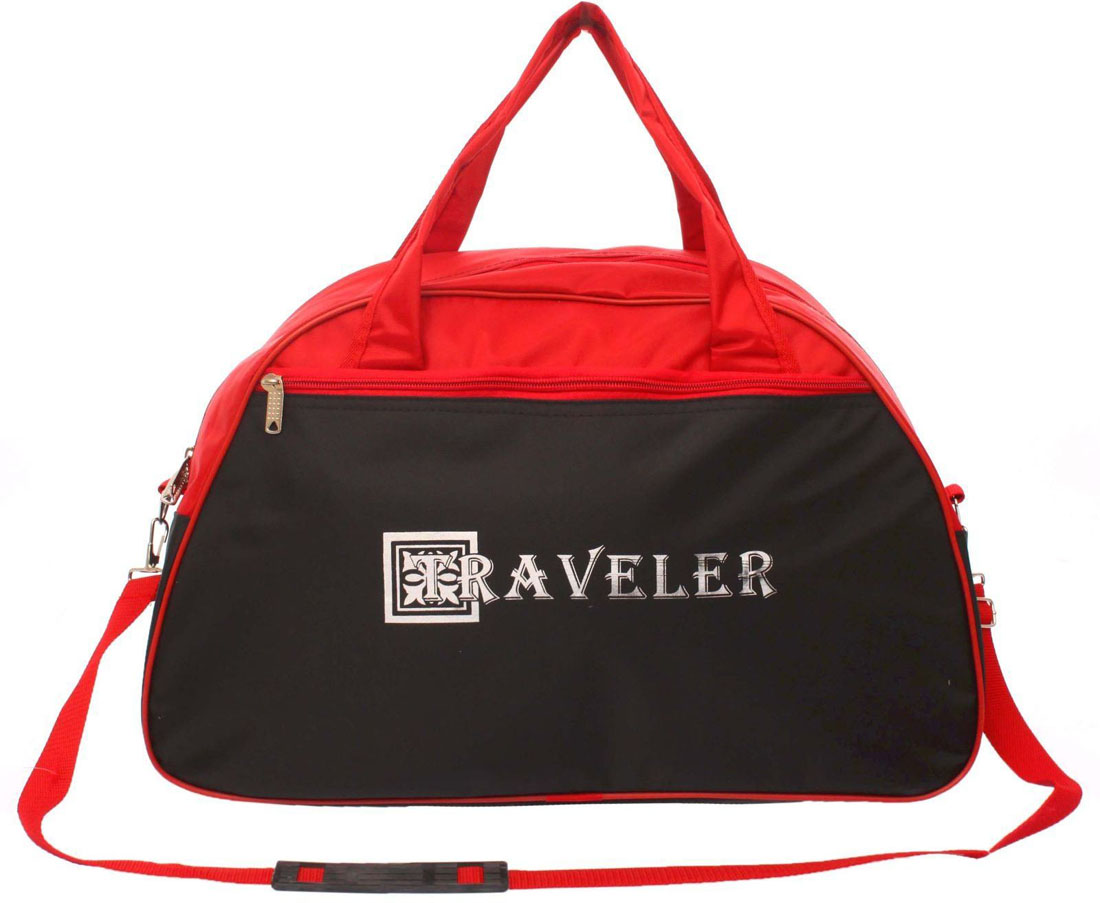 Сумка дорожная ZFTS, цвет: красный, черный. 745481745481Дорожная сумка ZFTS самый современный и демократичный вариант аксессуара. Сумка выполнена из прочного текстиля.Объёмное отделение сумки вмещает все необходимые вещи: от нижнего белья до верхней одежды. А удобные карманы предназначены для хранения предметов первой необходимости: косметички, зубной щётки или влажных салфеток. Модель оснащена широкими ручками и длинным съёмным ремнём для комфортной переноски. Дорожный аксессуар прослужит много лет, так как изготовлен из прочного текстиля, устойчивого к выцветанию.