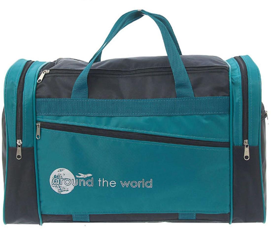 Сумка дорожная ZFTS, цвет: голубой. 745491745491Модная дорожная сумка ZFTS предназначена для тех, кто собирается в путешествие или деловую поездку.В большое отделение вместятся необходимые вещи: от нижнего белья до верхней одежды. А удобные карманы предназначены для хранения предметов первой необходимости: косметички, зубной щётки или влажных салфеток. Теперь не надо будет перерывать весь багаж в поисках нужной вещи. Порядок в сумке поможет всегда быть в курсе того, где и что лежит.Модель оснащена широкими ручками и длинным съёмным ремнём для комфортной переноски. Дорожный аксессуар прослужит много лет, так как изготовлен из прочного текстиля, устойчивого к выцветанию.