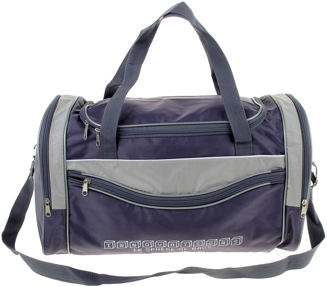Сумка дорожная ZFTS, цвет: серый, синий. 751611 сумка дорожная zfts цвет темно синий 189084