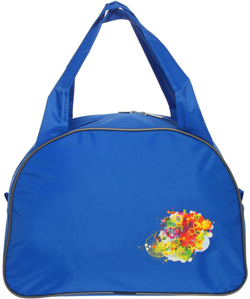 Сумка дорожная ZFTS, цвет: синий. 828706828706Универсальная сумка ZFTS будет незаменима для путешествий, поездок за город или занятий спортом. Практичный аксессуар выполнен из прочного текстиля, легко моется и не требует особого ухода. Основное отделение с застёжкой на молнии вместит большое количество вещей и предметов, таких как спортивная одежда и обувь, предметы гигиены для похода в фитнес-клуб и так далее. Две широкие ручки равномерно распределяют нагрузку на плечо.