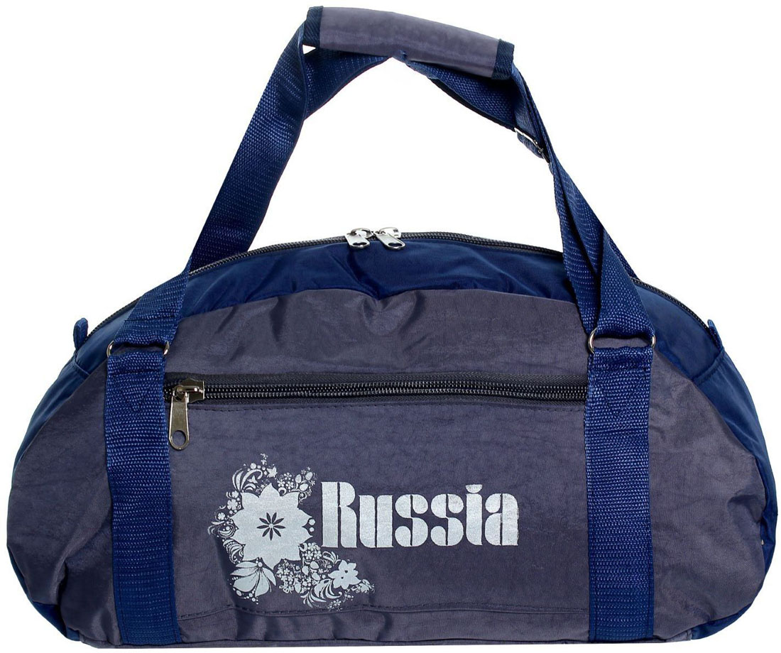 Сумка дорожная ZFTS, цвет: серый, синий. 828726 сумка дорожная zfts цвет темно синий 189084