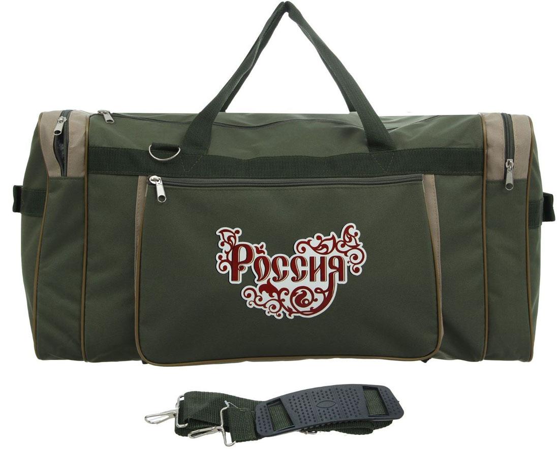 Сумка дорожная ZFTS, цвет: хаки. 856478856478Модная дорожная сумка ZFTS предназначена для тех, кто собирается в путешествие или деловую поездку.В большое отделение вместятся необходимые вещи: от нижнего белья до верхней одежды. А удобные карманы предназначены для хранения предметов первой необходимости: косметички, зубной щётки или влажных салфеток. Теперь не надо будет перерывать весь багаж в поисках нужной вещи. Порядок в сумке поможет всегда быть в курсе того, где и что лежит.Модель оснащена широкими ручками и длинным съёмным ремнём для комфортной переноски. Дорожный аксессуар прослужит много лет, так как изготовлен из прочного текстиля, устойчивого к выцветанию.
