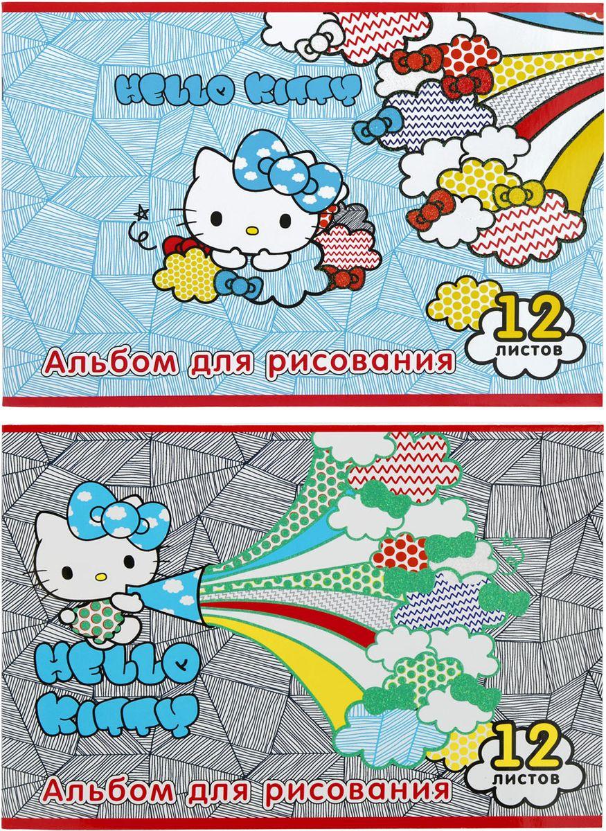 Action! Альбом для рисования Hello Kitty 12 листов 2 шт00-00035179Альбом для рисования Action! Hello Kitty выполнен из качественной бумаги белого цвета с яркой обложкой из плотного картона.Внутренний блок альбома состоит из 12 листов белой бумаги, соединенной двумя металлическими скрепками. Увлечение изобразительным творчеством носит не только развлекательный характер, но и развивает цветовое восприятие, зрительную память и воображение. В наборе два альбома для рисования.