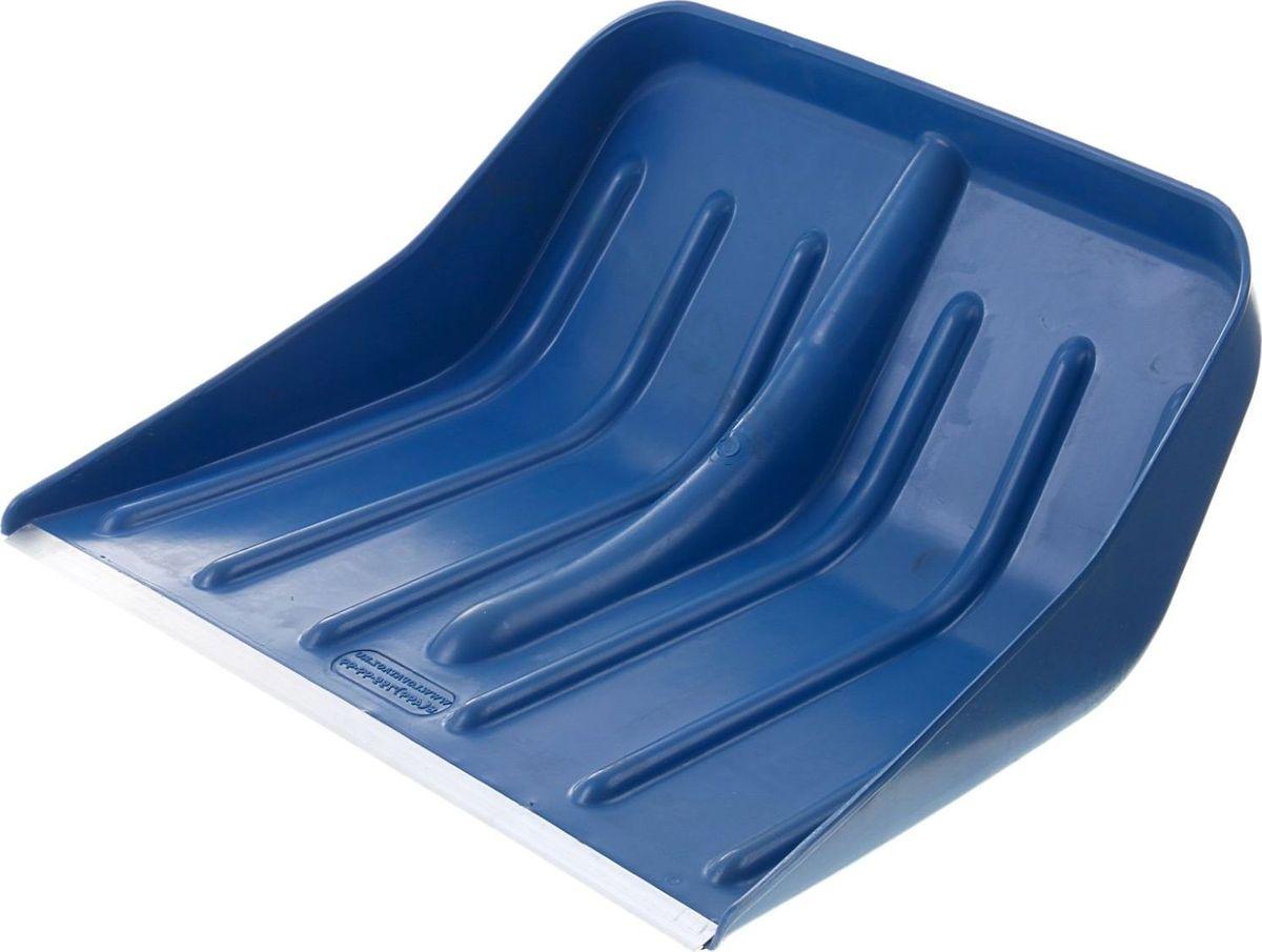 Лопата для снега, с тулейкой и планкой, 49 х 43 х 11 см1015554Эргономичная пластиковая лопата имеет размеры: 49 х 43 х 11 см, с алюминиевой планкой. Модель изготовлена без черенка и отличается высокой прочностью. Удобная конструкция со стандартной тулейкой позволит вам легко очистить заснеженную территорию любой площади.