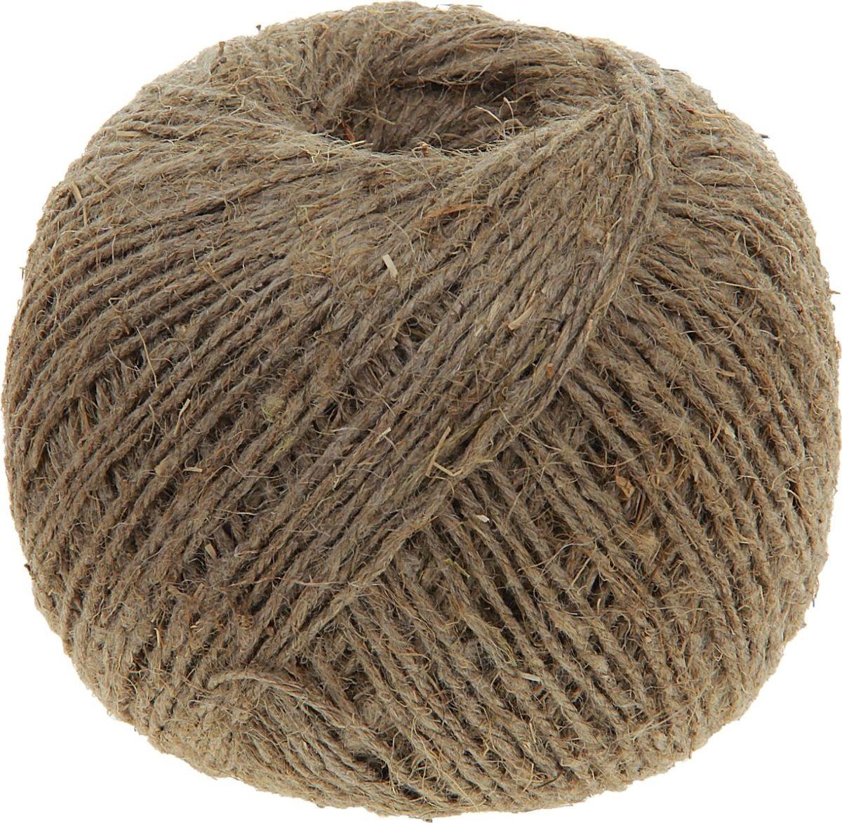 Шпагат льняной Банные Секреты, цвет: коричневый, 200 м1124414Льняной шпагат - экологически чистый перевязочный материал, изготовленный из смеси лубяных льняных, полиолефиновых, вискозных волокон и бумаги, что делает нить хоть и тонкой, но очень прочной на разрыв. Шпагат льняной, 50 м (1,25 КТекс) изготавливается методом мокрого полирования. Используется для прошивки бумаг, архивных папок, перевязки посылок и бандеролей, используется для бытовых и технологических нужд в различных отраслях производства.Длина: 200 м. Вес: 220 г. Линейная плотность шпагата - 1,25 кТекс. Диаметр: 1,4 мм.