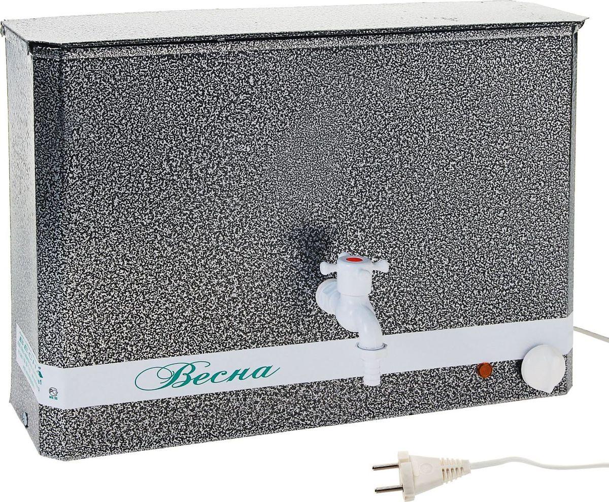 Умывальник Весна, с электроводонагревателем, цвет: серебристый, 15 л1125912Представленный водонагреватель ЭВНКА объемом 15 литров отлично подойдет для настенного крепления в домашнем хозяйстве или в гараже. Оборудован нагревательным элементом с регулировкой температуры, благодаря чему вы всегда сможете поддерживать нужную температуру воды.Потребляемая мощность, кВт: 1,25 Объем водяного бака, л: 15Гарантийный срок, мес: 12