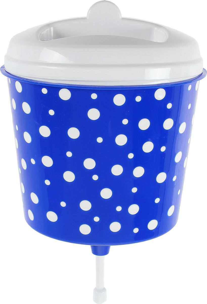 Рукомойник Альтернатива Горошек, цвет: белый, синий, 3 л1129949Оригинальный рукомойник поможет вам поддерживать чистоту рук на вашем дачном участке. Рукомойник изготовлен прочного пластика. Крышка плотно прилегает к рукомойнику, что препятствует попаданию грязи и пыли в воду. На крышке рукомойника предусмотрено место под мыло.