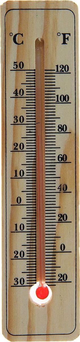 Термометр садовый, спиртовой, уличный, 15 х 3,5 см1196314Уличный термометр предназначен для определения температуры воздуха снаружи помещения. Жидкость в столбике представляет собой подкрашенный спирт, что делает изделие безопасным в быту. Такой прибор может быть полезен дома, на работе, а также в учебных, медицинских и других учреждениях. Характеристики Для измерения температуры на улице. Спиртовой. Размер: 15 ? 3,5 см. Отображение температуры воздуха (С°/ F°). Материал: дерево, стекло. С термометром вы будете готовы к любым погодным явлениям!