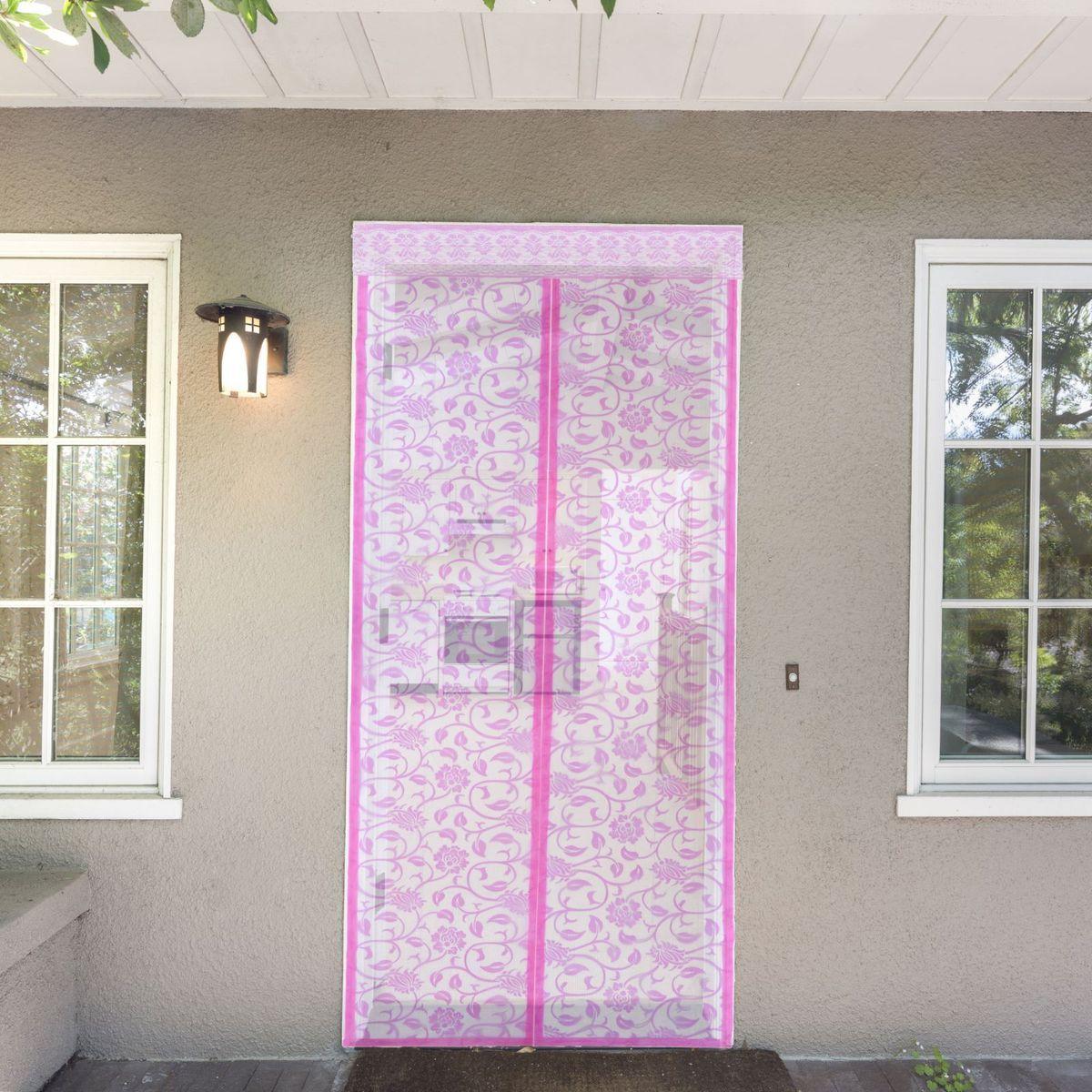 Сетка антимоскитная Цветочный узор, на магнитной ленте, цвет: розовый, 80 х 210 см1207611Занавес от насекомых на магнитной ленте универсален в использовании: подвесьте его при входе в садовый дом или балкон, чтобы предотвратить попадание комаров внутрь жилища. Наслаждайтесь свежим воздухом без компании надоедливых насекомых! Чтобы зафиксировать занавес в дверном проеме, достаточно закрепить занавеску по периметру двери с помощью кнопок, идущих в комплекте. В комплект входит: полиэстеровая сетка-штора (80 x 210 см) магнитная лента крепежные крючки. Принцип действия занавеса предельно прост: каждый раз, когда вы будете проходить сквозь шторы, они автоматически «захлопнутся» за вами благодаря магнитам, расположенным по всей его длине.