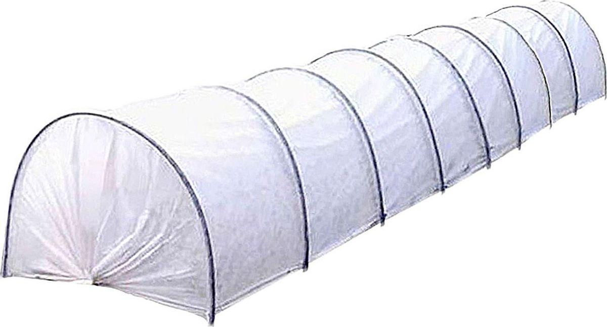 Основа парника — укрывной материал «Агротекс-42» (ширина — 2,1 м). Его можно  использовать на протяжении нескольких сезонов.  Парник прост в использовании. В  отличие от теплицы его можно переносить в любое место. Чтобы покрыть большую  площадь посадки, вкопайте дуги на глубину не более 30 см. В комплект парника  «уДачный» входит:  Укрывной материал с УФ-защитой,  Дуги ПНД диаметром 16  мм, длиной 2,5 м (9 шт),  Инструкцию-этикетку со штрих-кодом.  Высота парника  в разобранном виде 0,8 м, ширина 1,2 м.  Габариты парника в упаковке: 1,2м*0,7м* 0,1м Преимущества:  -защищает растения от ветра, града, холода, прямых солнечных лучей, поддерживает  оптимальный микроклимат;  -обеспечивает поступление воды к корням при низкой температуре (от 0 до +8 С);   -пропускает свет, когда день идёт на убыль;  -не промокает и не ржавеет за счёт каркаса из ПНД;   -в парнике обычно на 5–12 С теплее, чем на улице;  -защищает сельскохозяйственные культуры от мелких вредителей, птиц;  - удерживает влагу, снижает потребность в поливе по сравнению с выращиванием в  открытом грунте; -сохраняет форму с помощью дуг  покрывает большую  площадь посадки благодаря своему размеру (8 секций, 8,5 х 2,1 м); Установка парника  Прочно закрепить каркасные дуги (в комплекте 9 шт. диаметром 1,6 см) на глубине  20-30 см. Натянуть защитную плёнку. Длина дуги в развёрнутом состоянии — 2  м. Размер готового изделия зависит от того, как глубоко и широко размещены арки.  Зажимы в комплект не входят. Парник изготовлен из труб из ПНД, вшитых в укрывной  материал.