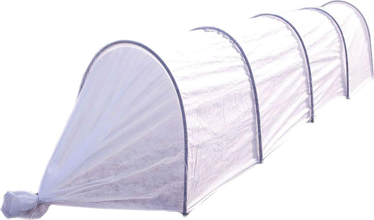 Парник Агроном, 4,5 м 13326721332672Основа парника - нетканый материал плотностью 45 г/м2. Он имитирует тропическиймикроклимат, выдерживает слой снега и не повреждает всходов. Его можно использовать напротяжении нескольких сезонов. С помощью такого одеяла вы укроете даже самые нежныеростки. Сельскохозяйственные культуры под ним созревают быстрее.Парник прост виспользовании. В отличие от теплицы его можно переносить в любое место. Чтобы покрытьбольшую площадь посадки, вкопайте дуги на глубину не более 30 см. В комплект парникаАгроном входит: укрывной материал повышенной прочности с УФ-защитой, 5 дуг ПНД O 20 ммдлиной 2 м, ножки-колышки (длиной 20 см) из ПНД по две на дугу, запасной колышек, клипсы- зажимы по 1 на каждую дугу, инструкция. Высота парника в разобранном виде 0,8 м, ширина 1м.Преимущества: защищает растения от ветра, града, холода, прямых солнечных лучей;поддерживает оптимальный микроклимат, обеспечивает поступление воды к корням при низкойтемпературе (от 0°С до +8°С), пропускает свет, когда день идет на убыль; не промокает и нержавеет за счет каркаса из ПНД; в парнике обычно на 5-12°С теплее, чем на улице; защищаетсельскохозяйственные культуры от мелких вредителей, птиц; удерживает влагу, снижаетпотребность в поливе по сравнению с выращиванием в открытом грунте; сохраняет форму спомощью входящих в комплект дуг; покрывает большую площадь посадки благодаря своемуразмеру.В комплекте 5 клипс.
