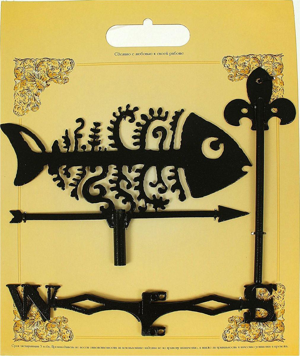 Флюгер  Рыбка , 15 х 25 см - Садовый декор