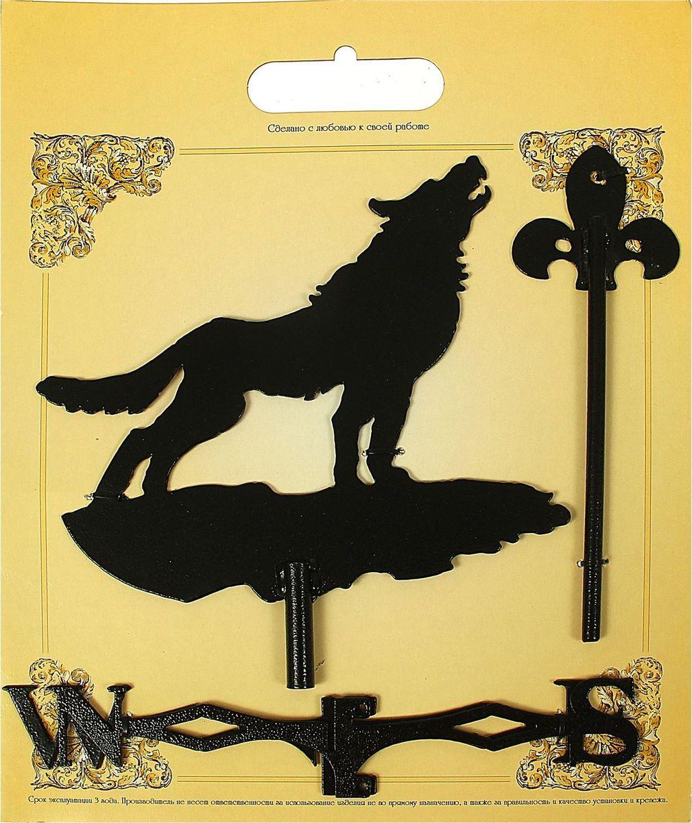 Флюгер  Воющий волк , 15 х 25 см -  Садовый декор