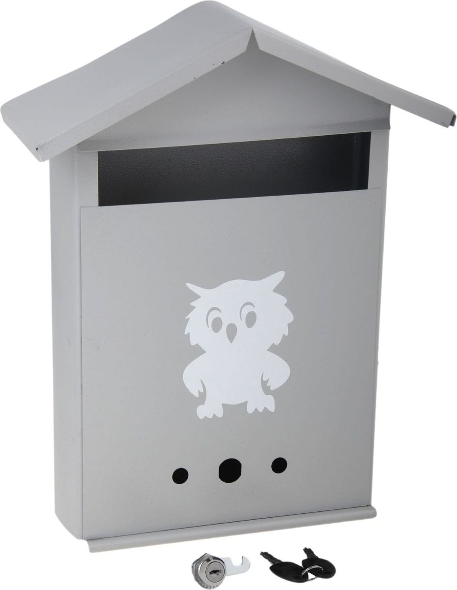 Ящик почтовый Домик, с замком, цвет: серый, 28 х 36 х 10 см1343832Используйте почтовый ящик для получения корреспонденции, счетов, журналов в загородном доме или на даче. Он компактный, вместительный и прослужит вам долгие годы. Особое порошковое напыление защищает поверхность от царапин. Изделие не ржавеет от дождя и снега. На задней стенке корпуса есть специальные отверстия для крепления. Замок-щеколда отвечает за сохранность содержимого.