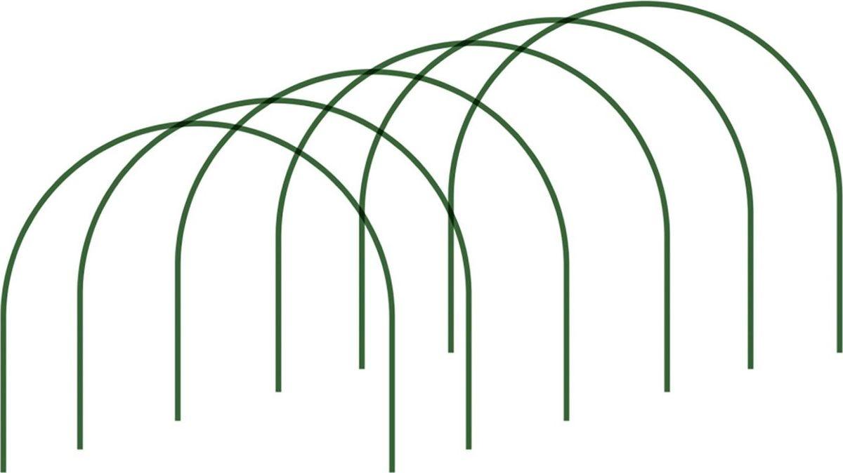 Комплект дуг парниковых ЗМИ Дельта, 3 м1352107Используйте комплект для увеличения площади готового парника или для создания нового. Чтобы придать конструкции устойчивости, закрепите дуги на глубине 20/30 см.Преимущества: стальные балки не подвержены коррозии, небольшой вес облегчает транспортировку и установку изделия. В комплекте 6 штук.