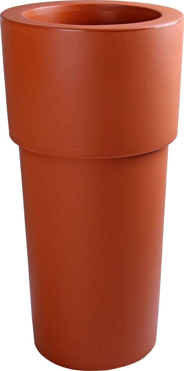 Вазон ЗАО Пластик Свеча, цвет: терракотовый, 60 л1358935Декоративная ваза «Свеча» — это классическая форма, притягивающий взгляд цвет, монументальность и величественность. Она пригодится для самых разных целей: позволит украсить гостиную или офис станет стильным подарком на юбилей или свадьбу превратится в реликвию, которую можно будет передавать из поколения в поколение. Ваза, изготовленная из качественного полимерного материала, станет заметной деталью интерьера и наполнит помещение атмосферой роскоши. Без красоты мир был бы тусклее. Наполните свою жизнь прекрасным!