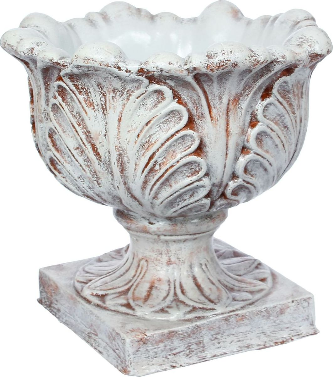 Вазон  Листья , цвет: бежевый, 52 х 52 х 50 см -  Садовый декор