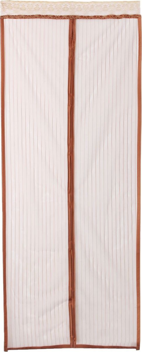Сетка антимоскитная, на магнитной ленте, цвет: коричневый, 100 х 210 см