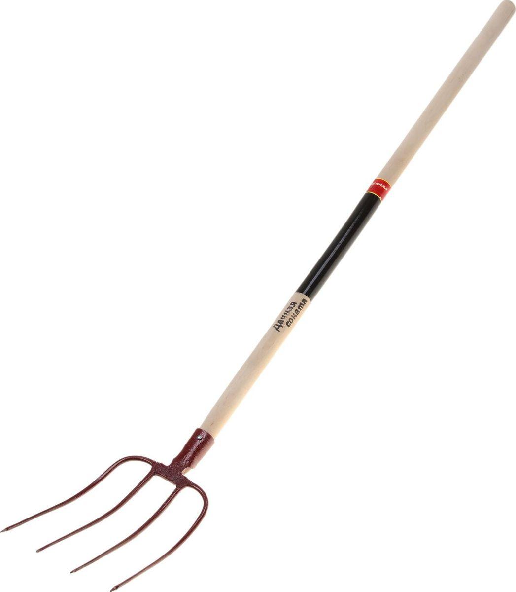 Вилы  Дачная соната , навозные, с черенком, длина 156 см - Ручной садовый инструмент