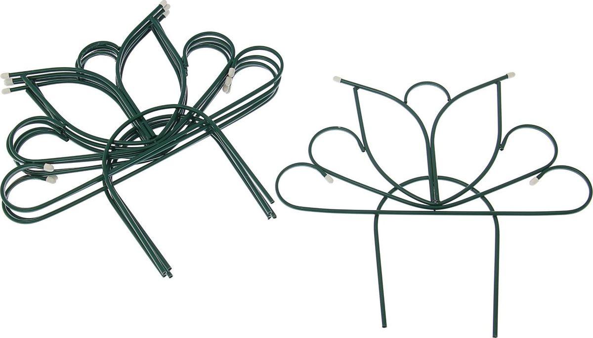 Ограждение садовое декоративное Бутон, с заглушками, 5 секций, 68 х 365 см1410748