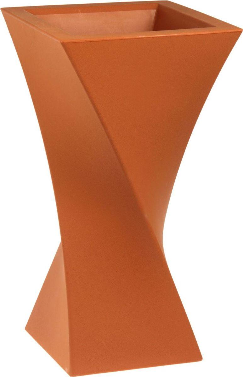 Вазон ЗАО Пластик Тюльпан, цвет: терракотовый, 35 л1442650 Декоративная ваза «Тюльпан» — это оригинальные изгибы, притягивающий взгляд цвет, монументальность и величественность . Она пригодится для самых разных целей: украсит гостиную или офисстанет стильным подарком на юбилей или свадьбу превратится в реликвию, которую можно будет передавать из поколения в поколение. Ваза, изготовленная из качественного полимерного материала, станет заметной деталью интерьера. Без красоты мир был бы тусклее. Наполните свою жизнь прекрасным!