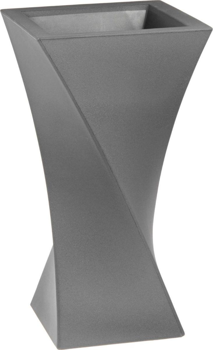 Вазон ЗАО Пластик Тюльпан, цвет: серебристый металл, 35 л1442651 Декоративная ваза «Тюльпан» — это оригинальные изгибы, притягивающий взгляд цвет, монументальность и величественность . Она пригодится для самых разных целей: украсит гостиную или офисстанет стильным подарком на юбилей или свадьбу превратится в реликвию, которую можно будет передавать из поколения в поколение. Ваза, изготовленная из качественного полимерного материала, станет заметной деталью интерьера. Без красоты мир был бы тусклее. Наполните свою жизнь прекрасным!