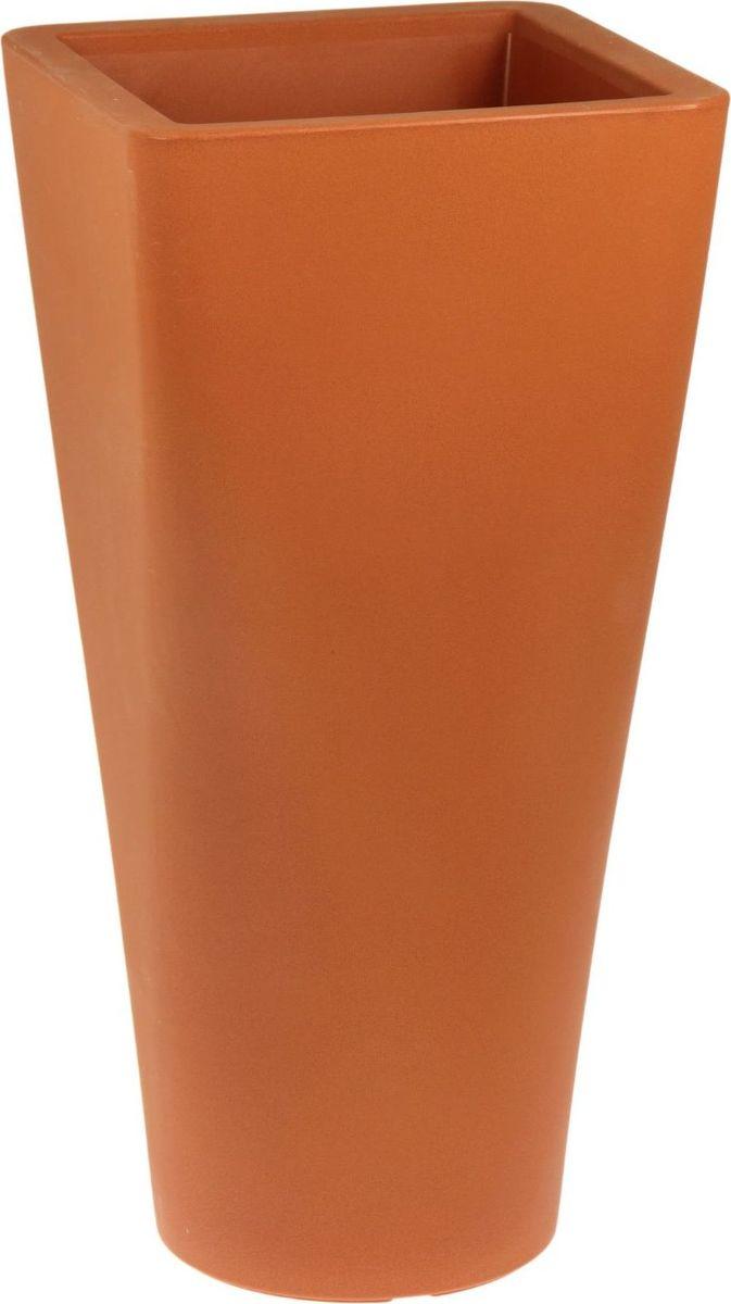 Вазон ЗАО Пластик Афродита, цвет: терракотовый, 35 л1442653 Декоративная ваза «Афродита» — это классическая форма, притягивающий взгляд цвет, монументальность и величественность. Она пригодится для самых разных целей: позволит украсить гостиную или офисстанет стильным подарком на юбилей или свадьбупревратится в реликвию, которую можно будет передавать из поколения в поколение. Ваза, изготовленная из качественного полимерного материала, станет заметной деталью интерьера и наполнит помещение атмосферой роскоши. Без красоты мир был бы тусклее. Наполните свою жизнь прекрасным!