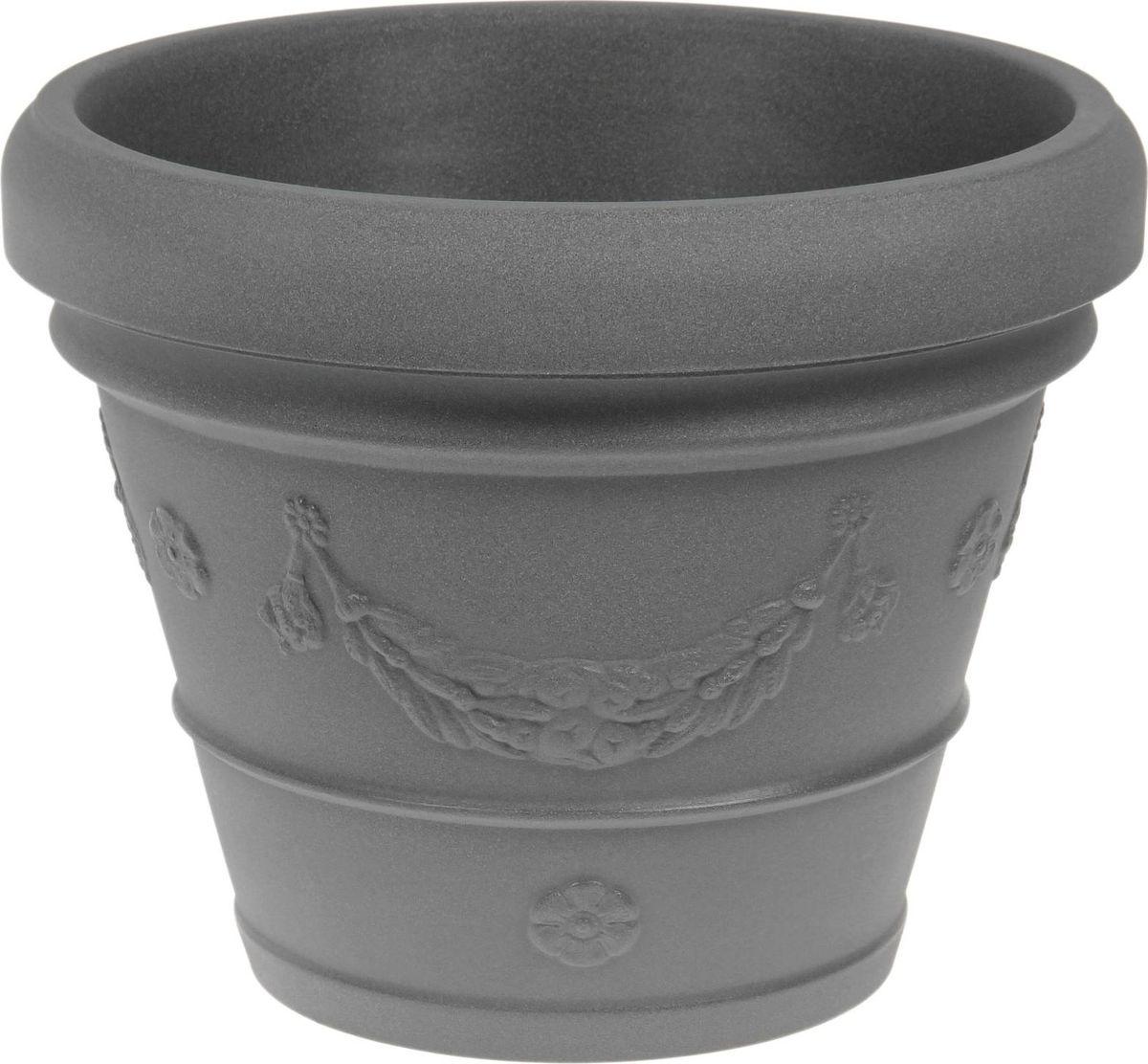 Вазон ЗАО Пластик Виола, цвет: серебристый металл, 162 л1442662 Декоративная ваза «Виола» — это классическая форма, притягивающий взгляд цвет, монументальность и величественность. Она пригодится для самых разных целей: позволит украсить гостиную или офисстанет стильным подарком на юбилей или свадьбупревратится в реликвию, которую можно будет передавать из поколения в поколениеВаза, изготовленная из качественного полимерного материала, станет заметной деталью интерьера и наполнит помещение атмосферой роскоши. Без красоты мир был бы тусклее. Наполните свою жизнь прекрасным!