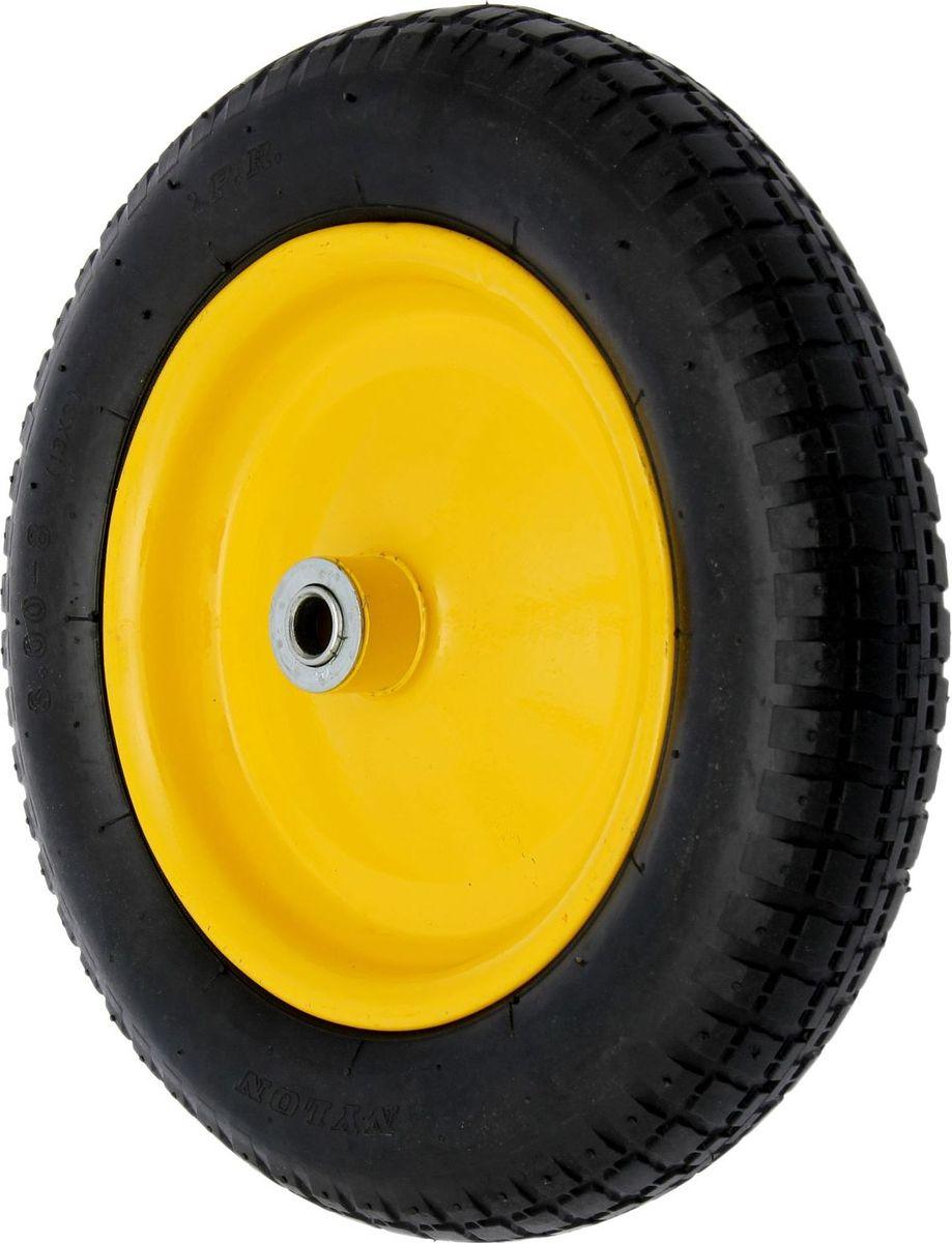 Колесо запасное для тачки, с подшипником, диаметр колеса 33 см1446804Летом практически каждая семья стремится проводить больше времени за городом. Прекрасный выбор для комфортного отдыха и эффективного труда на даче, который будет радовать вас достойным качеством. Колесо надувное. Всегда есть возможность его подкачать.Ширина колеса 7 см