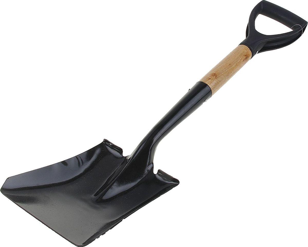 Лопата совковая Доляна, с черенком и ручкой, длина 70 см150769Лопата - один из главных инструментов на даче и в огороде. Данная модель торговой марки Доляна предназначена для уборки органического мусора, а также для погрузо-разгрузочных работ. Полотно выполнено из металла, черенок - из дерева, а рукоятка - из пластика. Такое сочетание материалов делает конструкцию прочной, но лёгкой для работы.Тип: совковая.Размер: 70 см.Материал: металл, дерево, пластик.