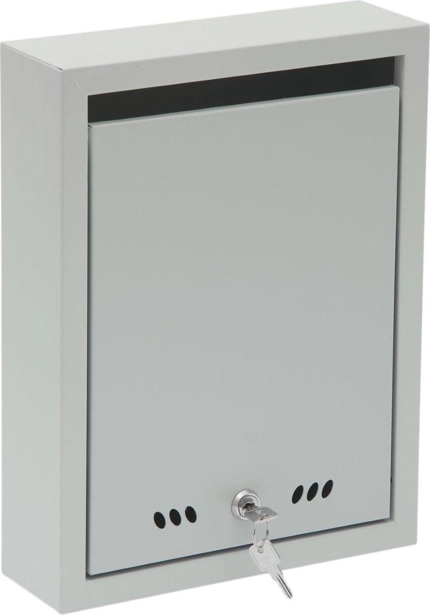 Ящик почтовый ОТК Тюльпан, с замком, цвет: серый, 37,5 х 28,5 х 9 см1723828Почтовый ящик ОТК выполнен из металла и закрывается на замок-щеколду. В комплект входят 2 ключа. Изделие крепится к стене здания, к забору или другому ограждению с помощью 4 саморезов.
