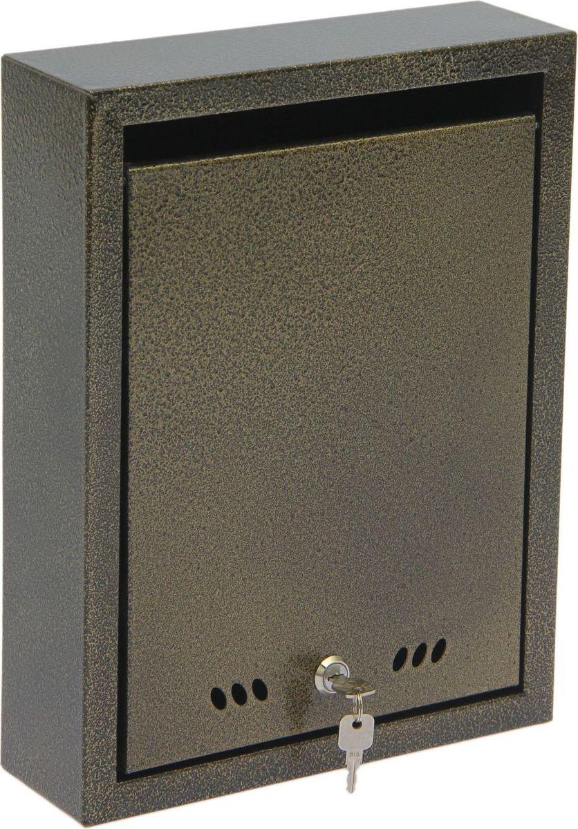 Ящик почтовый ОТК, с замком, цвет: бронзовый, 37 х 28 х 9 см1723830Почтовый ящик ОТК выполнен из металла с рельефной поверхностью. Данная модель имеет отверстия на задней стенке для крепления к стене. В комплект входят замок с двумя ключами.