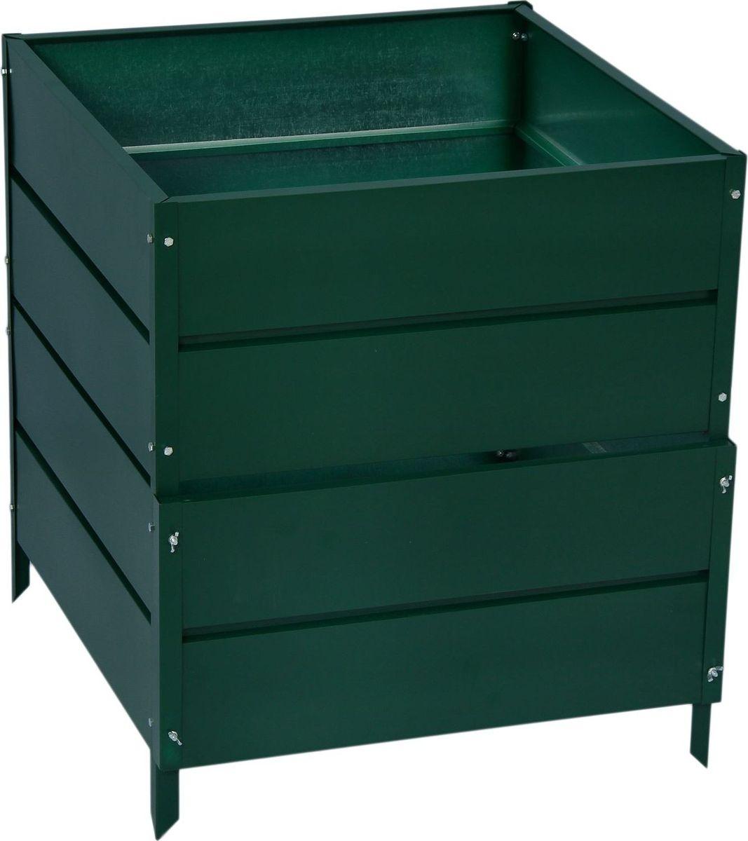 Компостер садовый СибГрядки, цвет: зеленый, 678 л