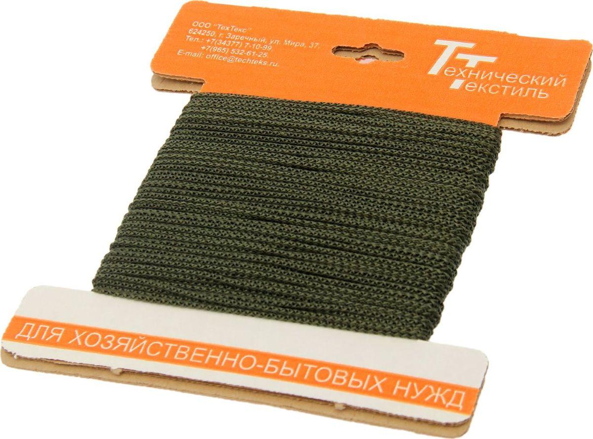 Шнур вязаный, цвет: оливковый, 2 мм, 30 м1827804Универсальный бытовой шнур изготовлен из прочного полипропилена. Шнур крепкий и надежный, подойдет как для бытового использования, так и для профессиональной деятельности. Диаметр шнура: 2 мм.Длина шнура: 30 м.