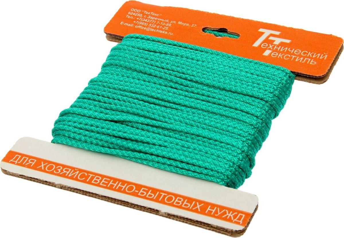 Шнур вязаный, с сердечником, цвет: зеленый, 4,5 мм, 20 м1827817Универсальный бытовой шнур изготовлен из прочного полипропилена с внутренним наполнителем (сердечником), который делает шнур более прочным и плотным. Шнур очень крепкий и надежный, подойдет как для бытового использования, так и для профессиональной деятельности. Диаметр шнура: 4,5 мм.Длина шнура: 20 м.