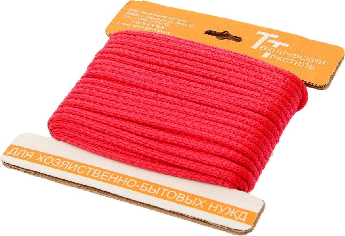 Шнур вязаный, с сердечником, цвет: красный, 5 мм, 20 м1827823Универсальный бытовой шнур изготовлен из прочного полипропилена с внутренним наполнителем (сердечником), который делает шнур более прочным и плотным. Шнур очень крепкий и надежный, подойдет как для бытового использования, так и для профессиональной деятельности. Диаметр шнура: 5 мм.Длина шнура: 20 м.
