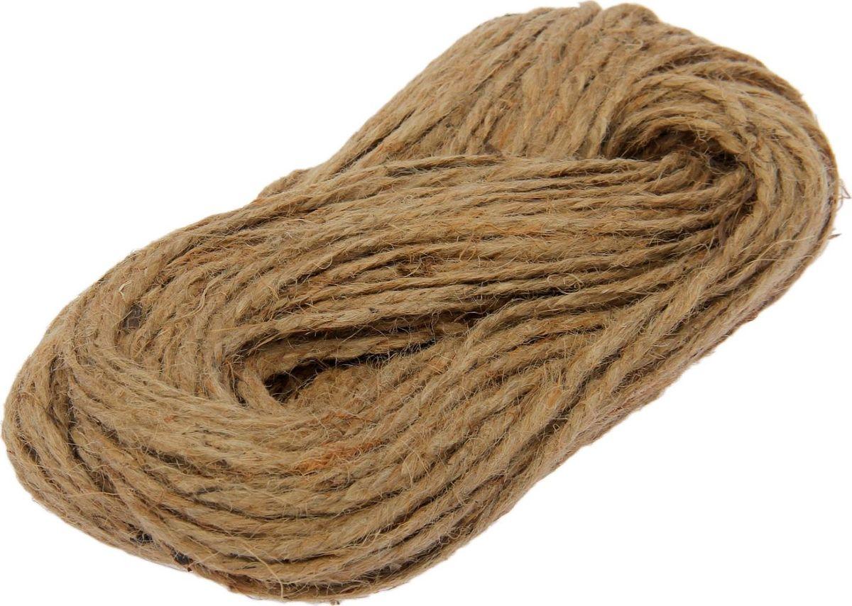 Шпагат льняной, длина 50 м. 18278331827833Шпагат льняной представляет собой изделие, которое используется для бытовых и технологических нужд в различных отраслях производства. В хозяйстве его используют для сушки белья, вместо верёвки, для упаковки вещей, при хранении овощей. Длина: 50 м. Вес: 260 г. Диаметр: 2,9 мм.