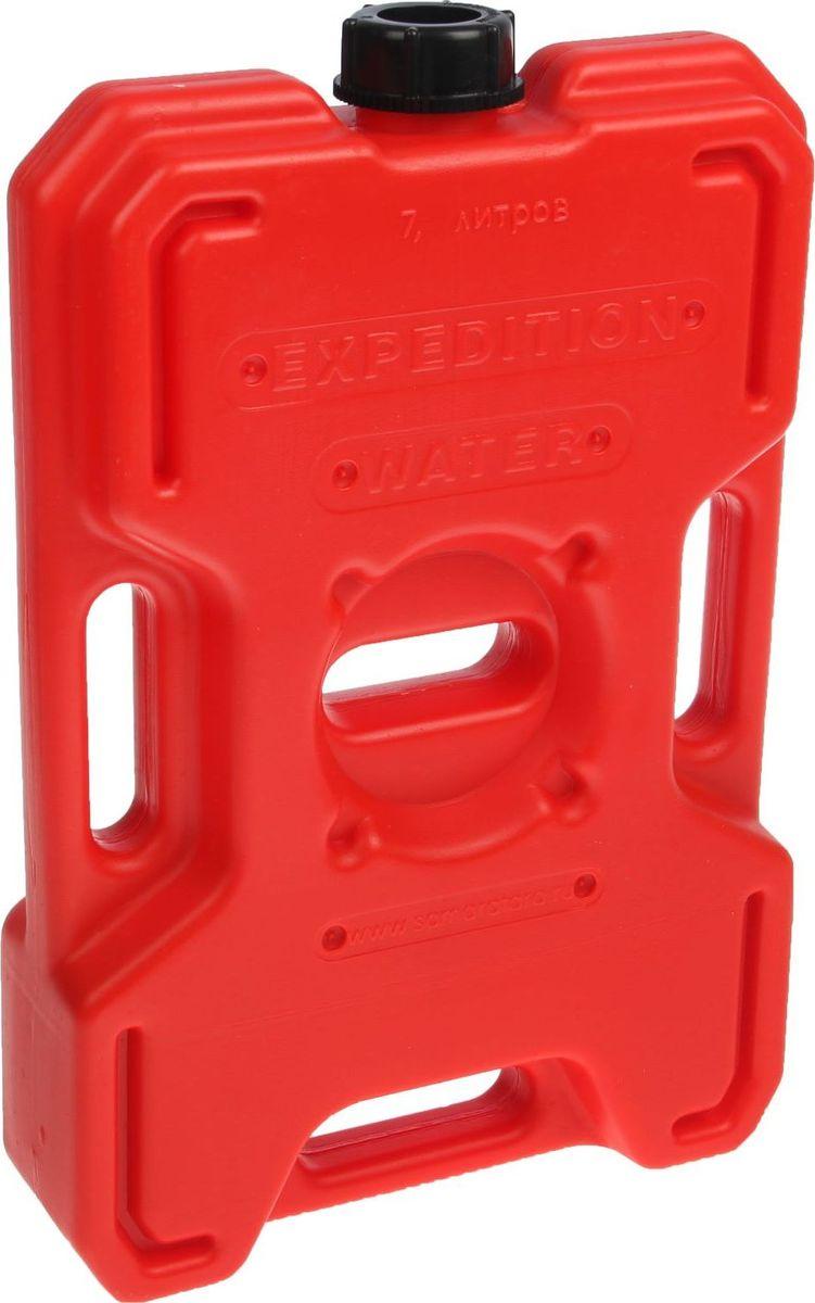 Канистра Экстрим, цвет: красный, 7 л1987508Плоская канистра Экстрим изготовлена из качественного пластика. Модель выдерживает самую жесткую эксплуатацию в экстремальных условиях. Благодаря своей необычной форме и габаритам, она может быть закреплена практически на любом месте. Канистра имеет удобные ручки для переноски и крепления канистры.