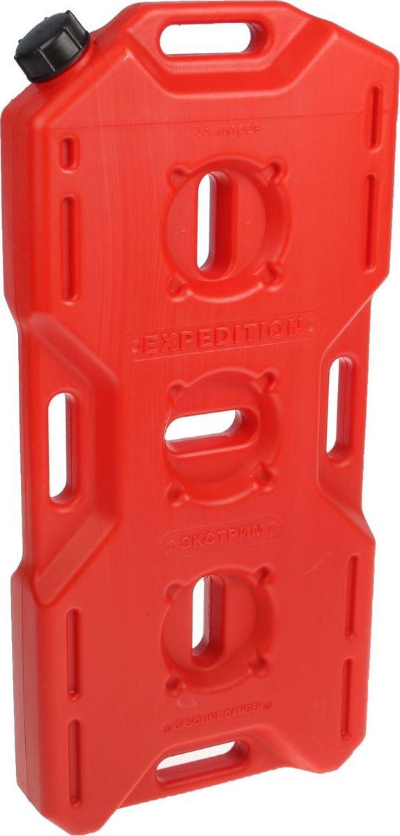 Канистра Экстрим, цвет: красный, 15 л1987513Плоская канистра Экстрим изготовлена из качественного пластика. Модель выдерживает самую жесткую эксплуатацию в экстремальных условиях. Благодаря своей необычной форме и габаритам, она может быть закреплена практически на любом месте. Канистра имеет удобные ручки для переноски и крепления канистры.