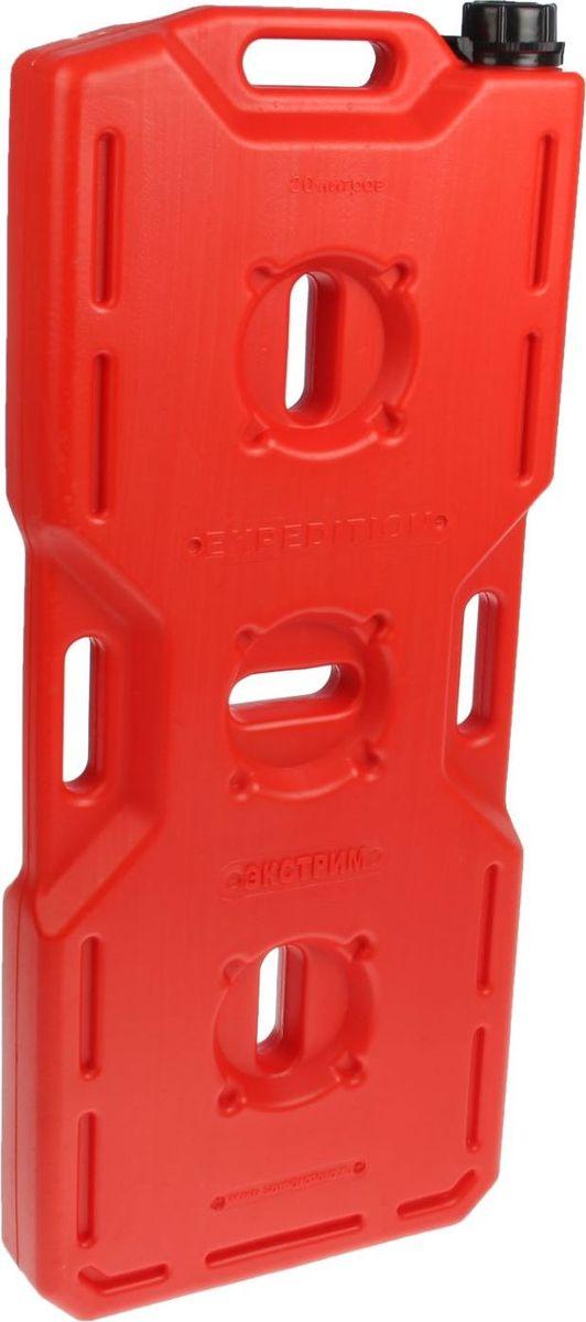 Канистра Экстрим Плюс, цвет: красный, 20 л1987516Плоская канистра Экстрим Плюс изготовлена из качественного пластика. Модель выдерживает самую жесткую эксплуатацию в экстремальных условиях. Благодаря своей необычной форме и габаритам, она может быть закреплена практически на любом месте. Канистра имеет удобные ручки для переноски и крепления канистры.