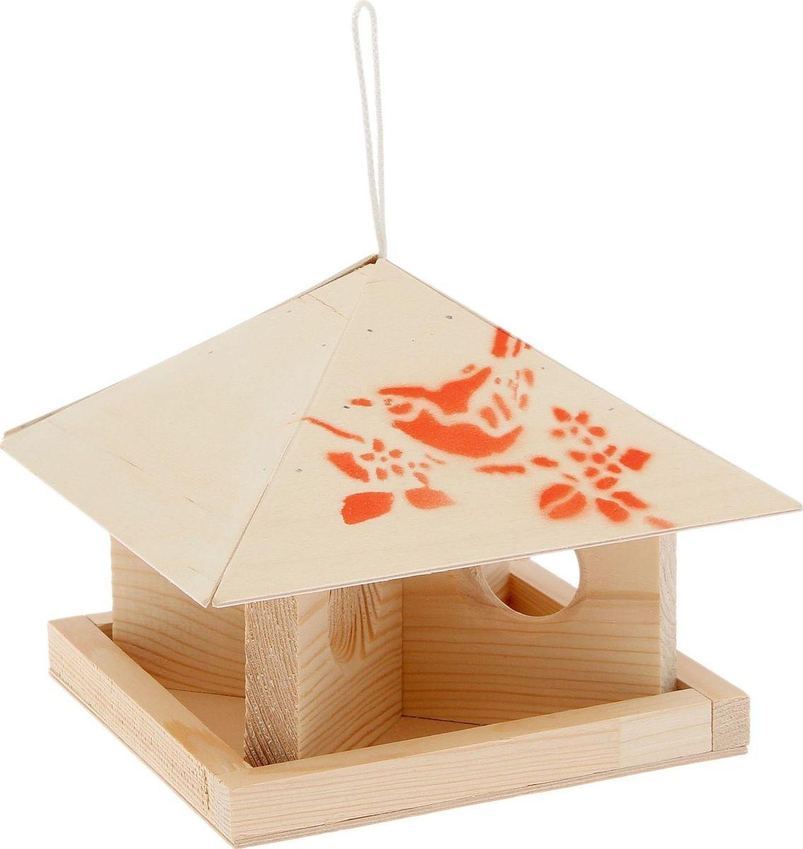 Кормушка для птиц Шатер, 23 х 23 х 18 см2012678