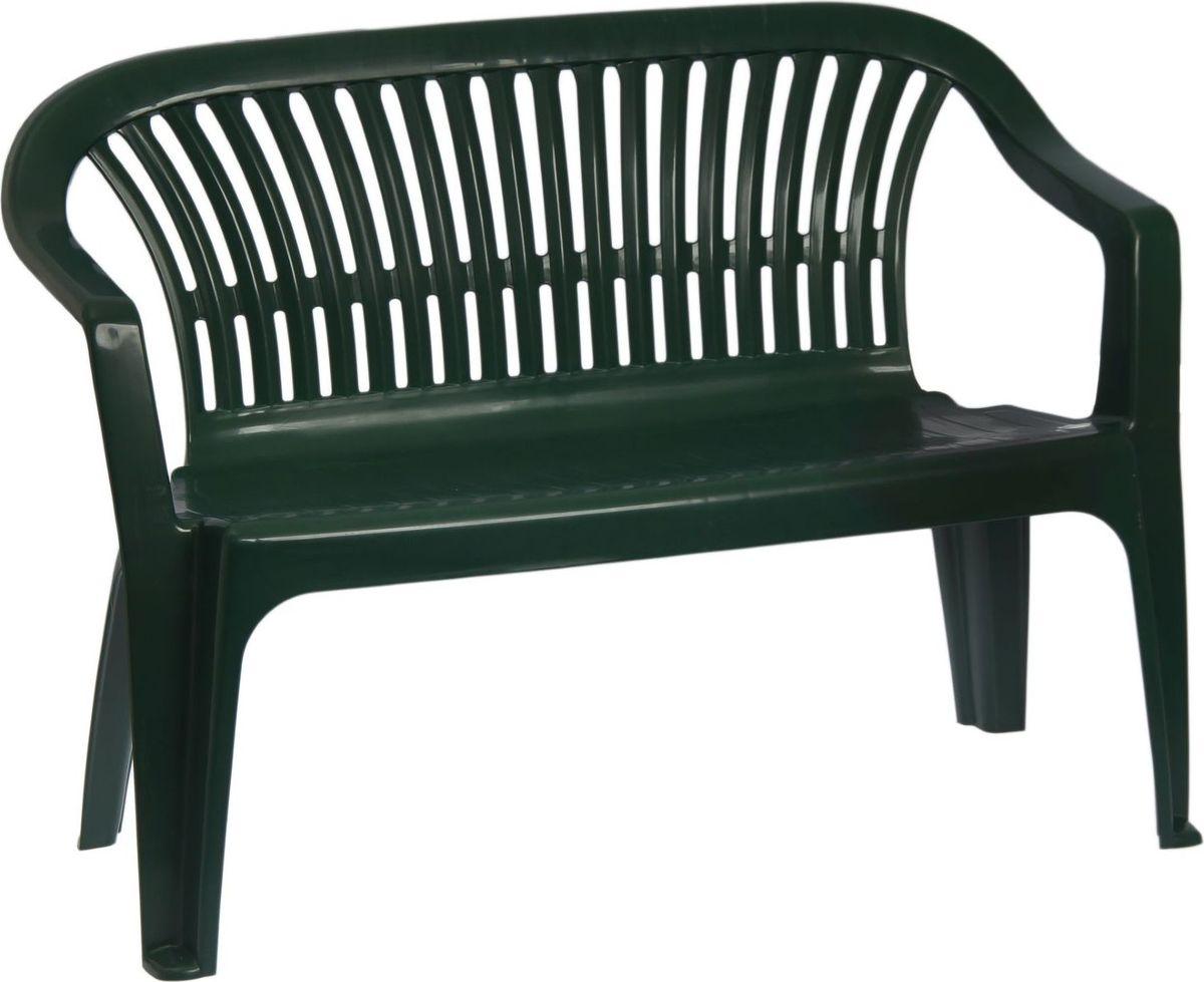 Скамья садовая Престиж, со спинкой, двухместная, цвет: темно-зеленый, 115 х 60 х 81 см. 20613142061314Пластиковая садовая скамья со спинкой Престиж используется для создания привлекательного дизайна дачного участка. Садовые участки, оснащённые такой скамьей, будут выглядеть уютно, комфортно и стильно. Для изготовления используется пластик повышенной прочности.Скамейка выдерживает 160 кг статического веса.Ширина: 60 см.Длина: 115 см.Высота: 81 см.